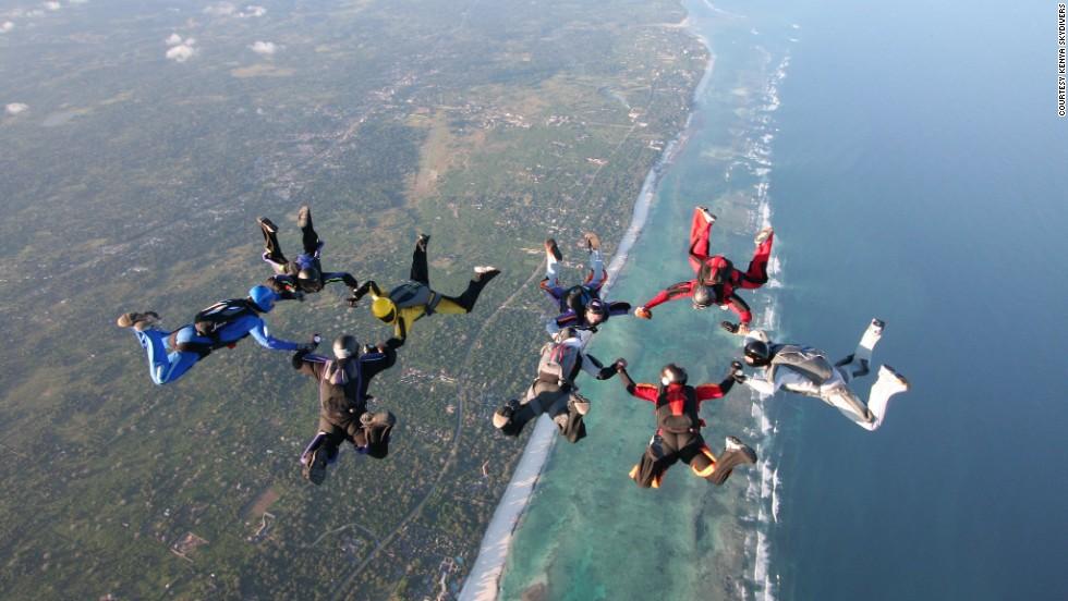 Livingstone Zambia skydive 2018