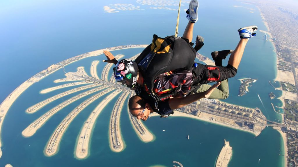 palm jumeirah skydive in 2018