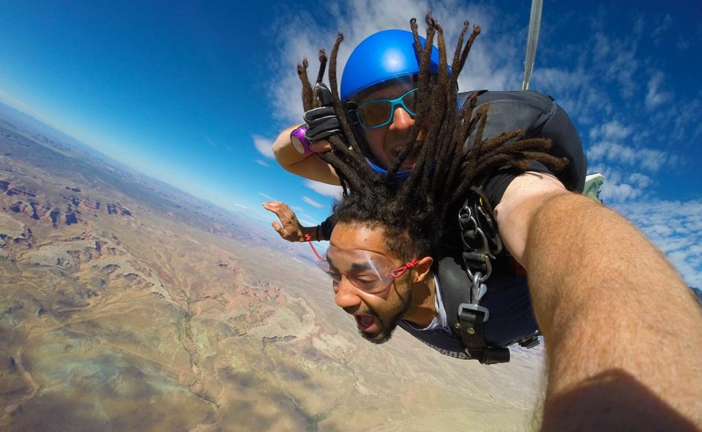 sky diving 2018 in usa