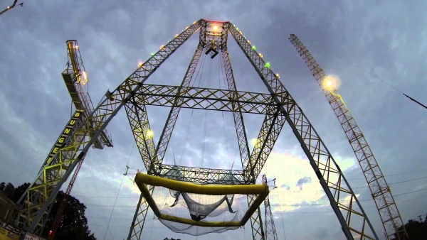 Air Boingo Tower by Zero Gravity in Dallas, Texas - Best places to bungee jump - 2018 - TrendMut- USA