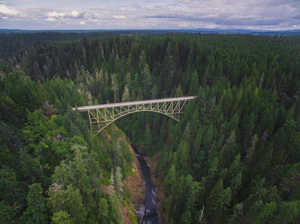 High Steel Bridge, Shelton, Washington - Best places to bungee jump - 2018 - TrendMut- USA