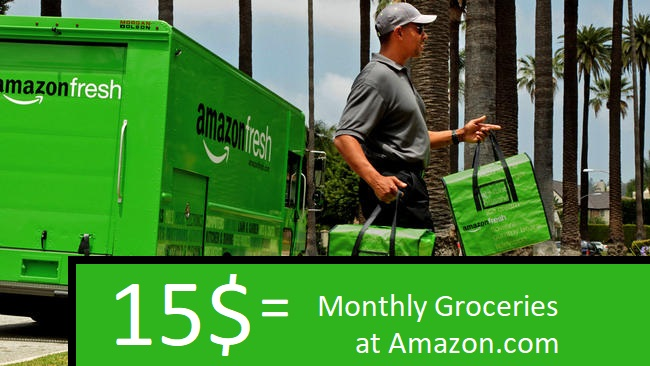 Amazon Fresh delivers unlimited grocery for only 15$ per month - Amazon fresh 15$ - 14.99$ - 2018 - Deal - TrendMut