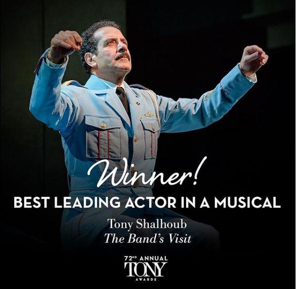 best-musical-leading-actor-Tony-Shalhoub-the-bands-visit-tony-awards-2018