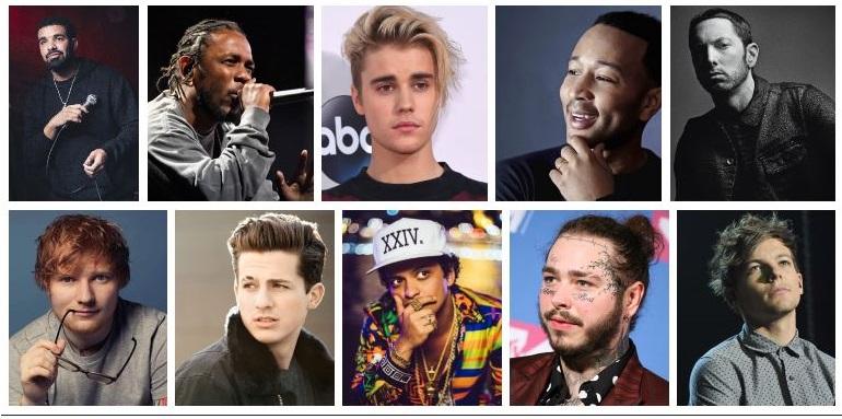 Top Ten male Singers of 2018
