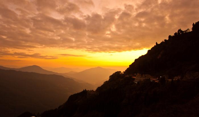 Tashi View Point sunset