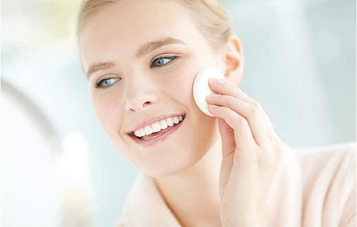 how to use rosewater on face at night