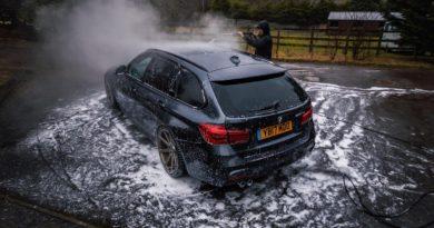 How do you pressure wash a car engine