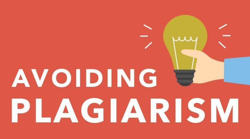 Avoid Plagiarising The Content
