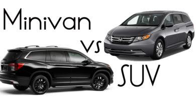 SUV vs minivan
