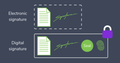 Electronic Signatures vs Digital Signatures